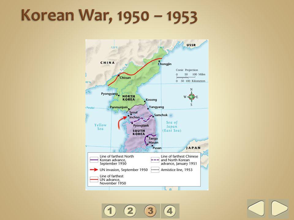 Korean War, 1950 – 1953