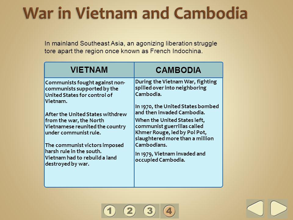 War in Vietnam and Cambodia
