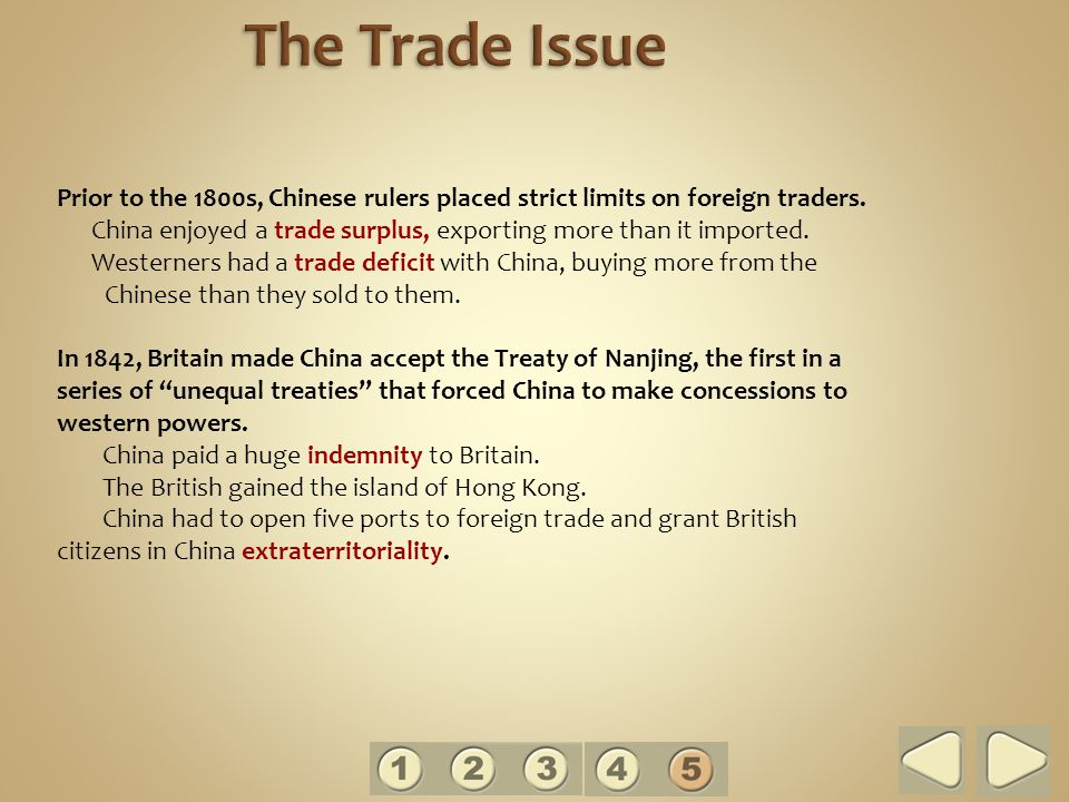 The Trade Issue