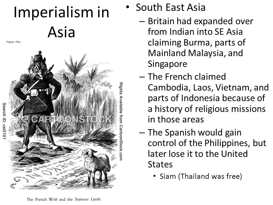 Imperialism in Asia South East Asia