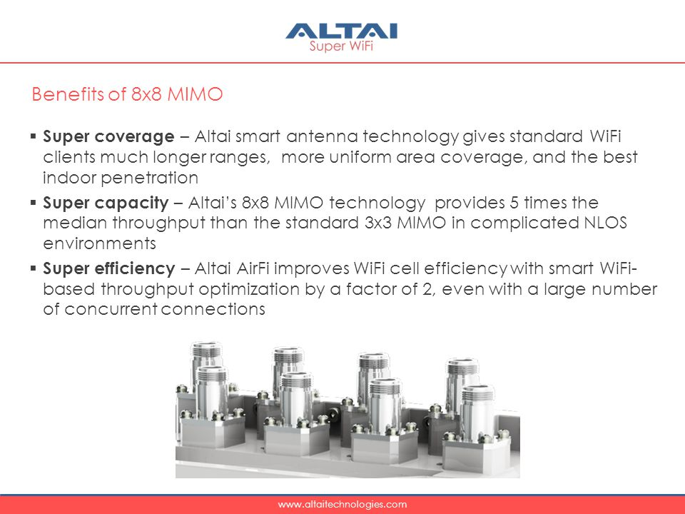 Benefits of 8x8 MIMO