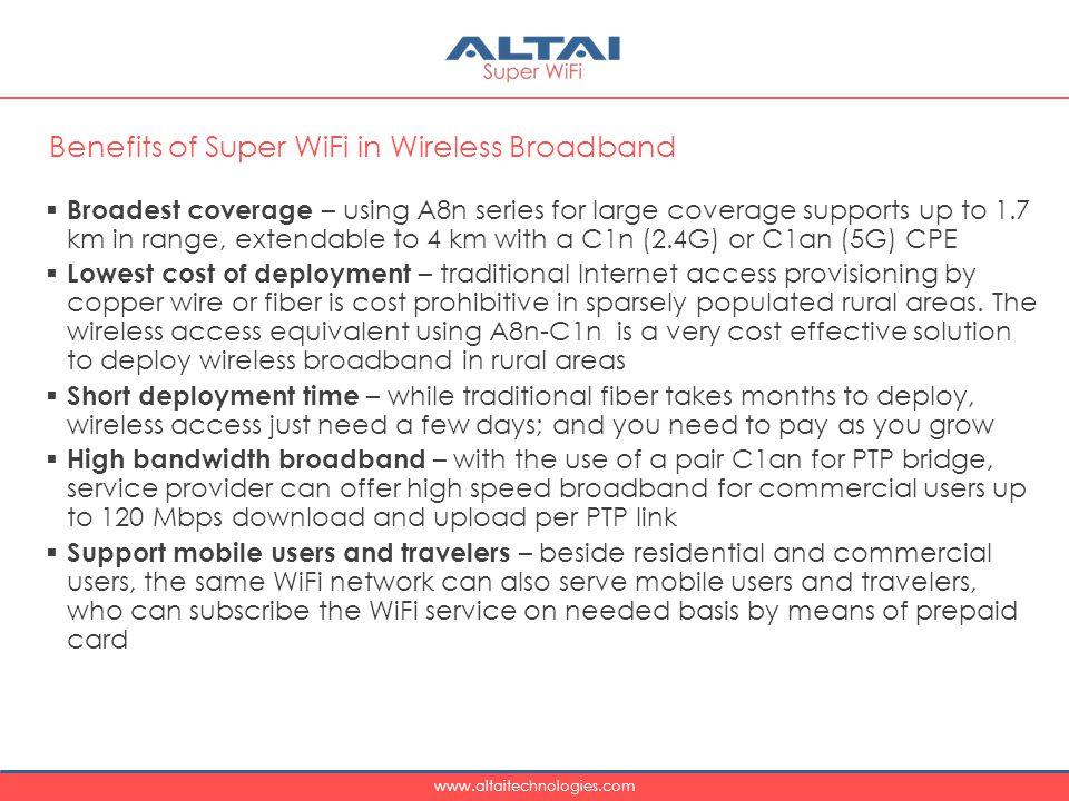 Benefits of Super WiFi in Wireless Broadband