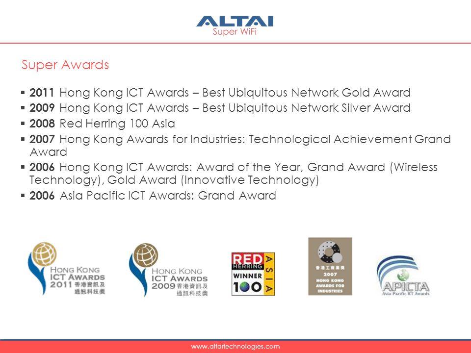 Super Awards 2011 Hong Kong ICT Awards – Best Ubiquitous Network Gold Award. 2009 Hong Kong ICT Awards – Best Ubiquitous Network Silver Award.