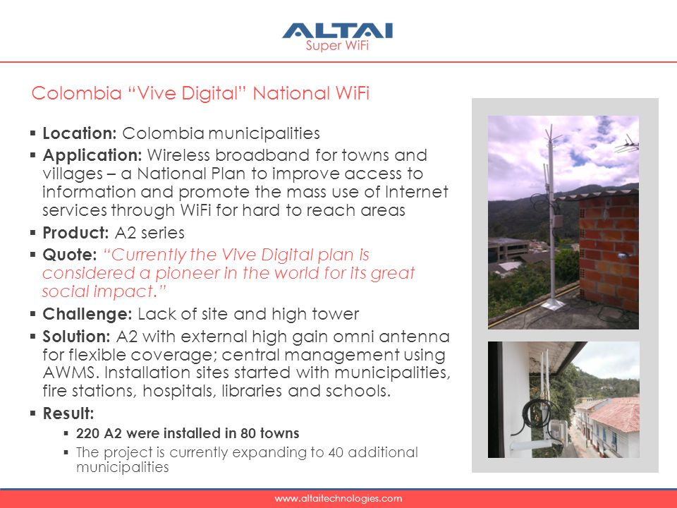 Colombia Vive Digital National WiFi
