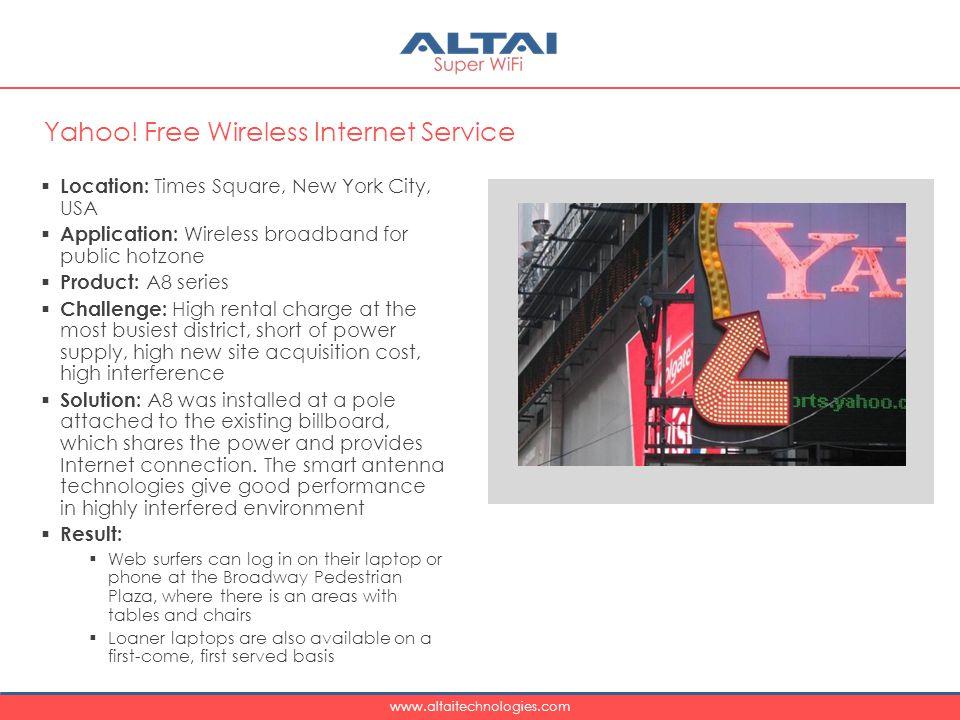 Yahoo! Free Wireless Internet Service