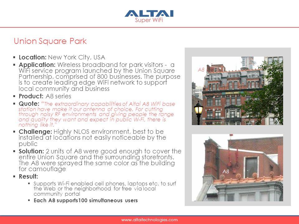 Union Square Park Location: New York City, USA