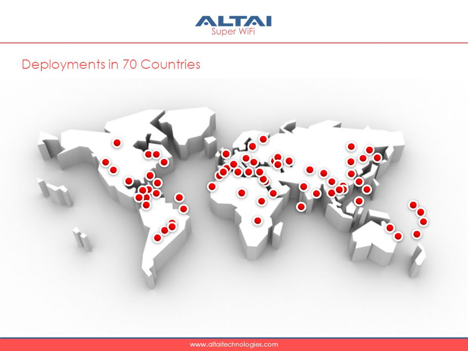 Deployments in 70 Countries