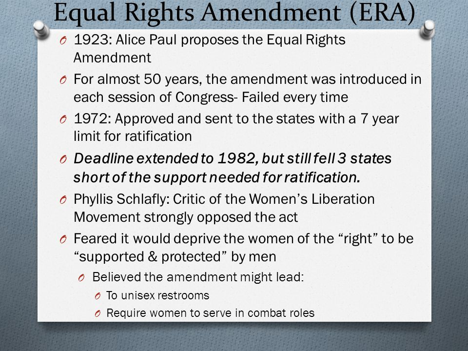 Equal Rights Amendment (ERA)