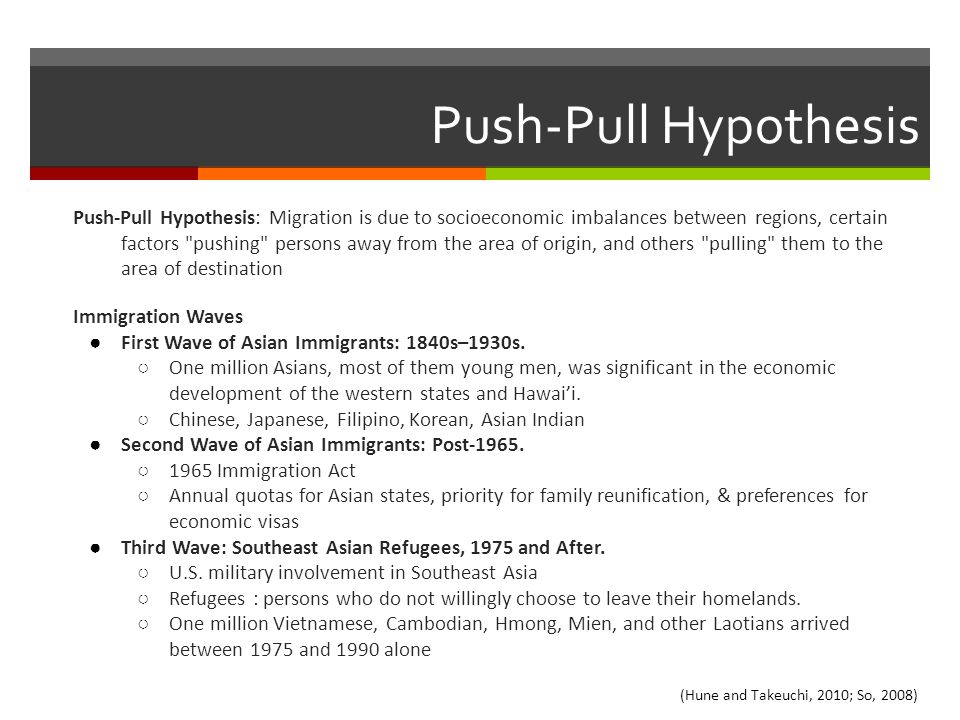 Push-Pull Hypothesis