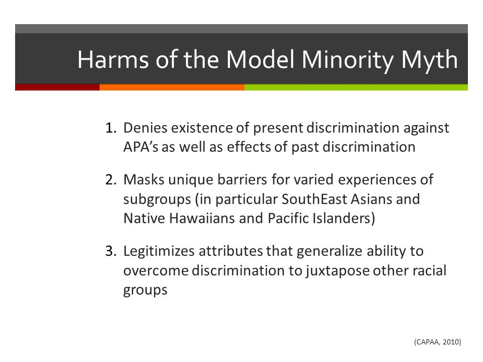 Harms of the Model Minority Myth