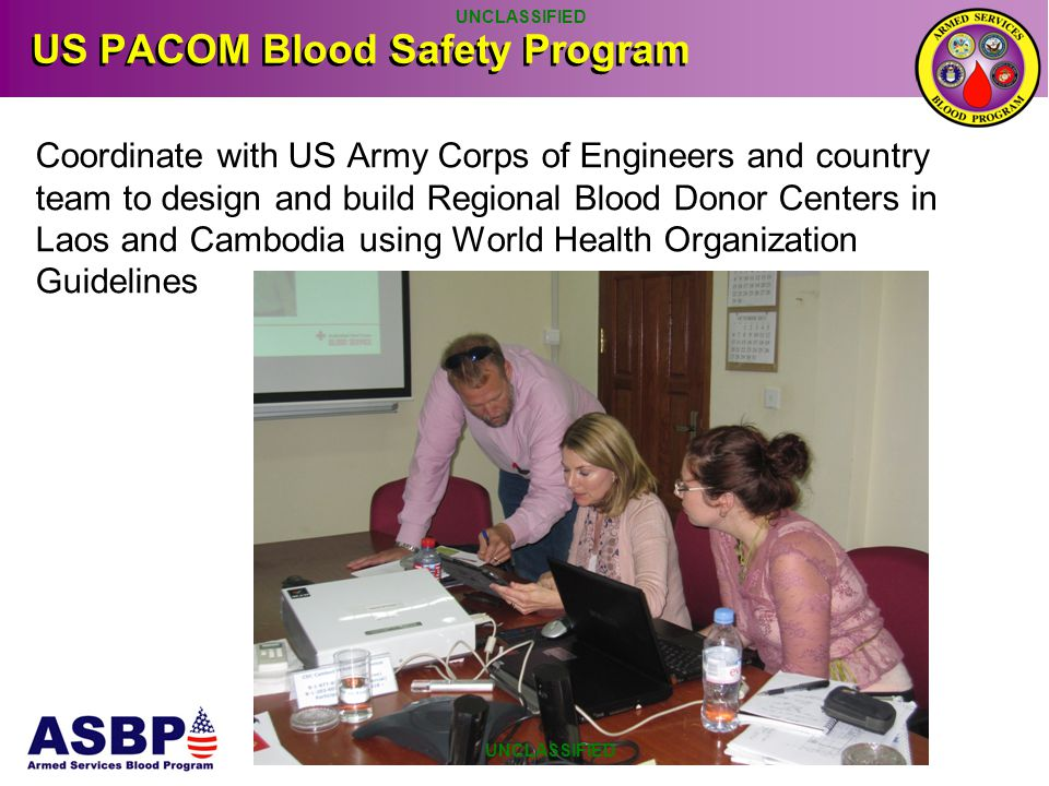 US PACOM Blood Safety Program