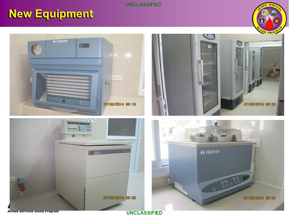 UNCLASSIFIED New Equipment UNCLASSIFIED