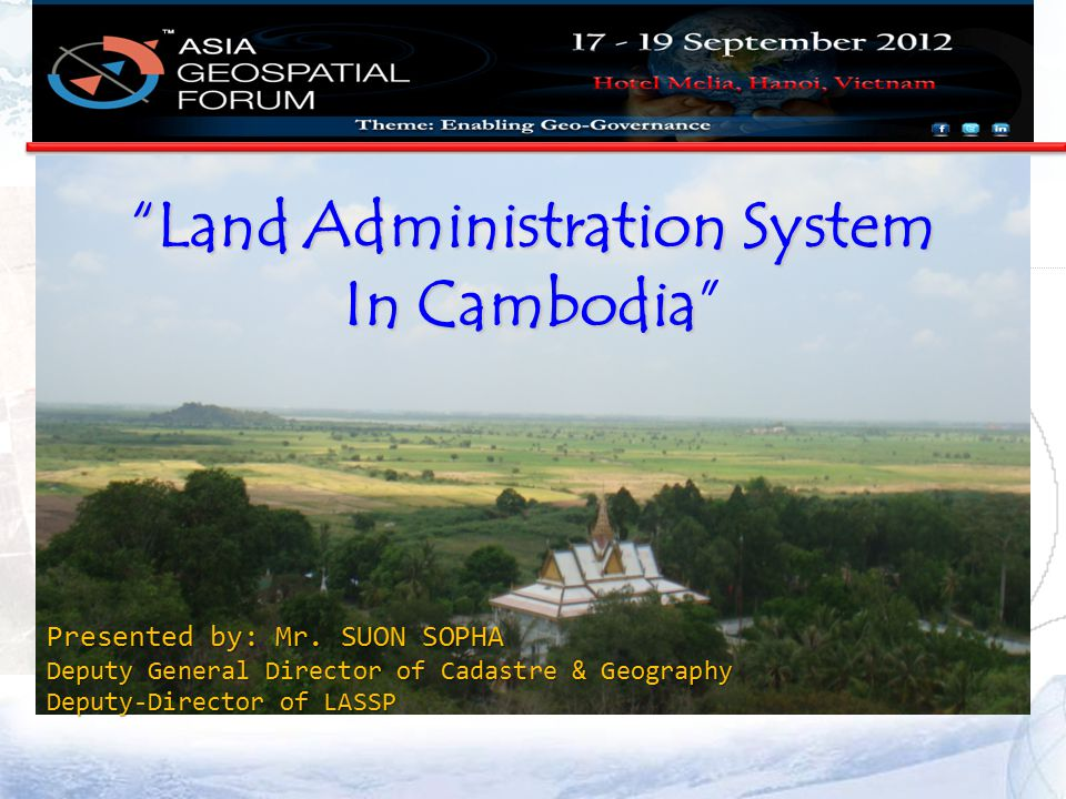 Land Administration System In Cambodia