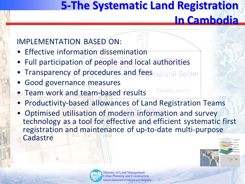 5-The Systematic Land Registration In Cambodia