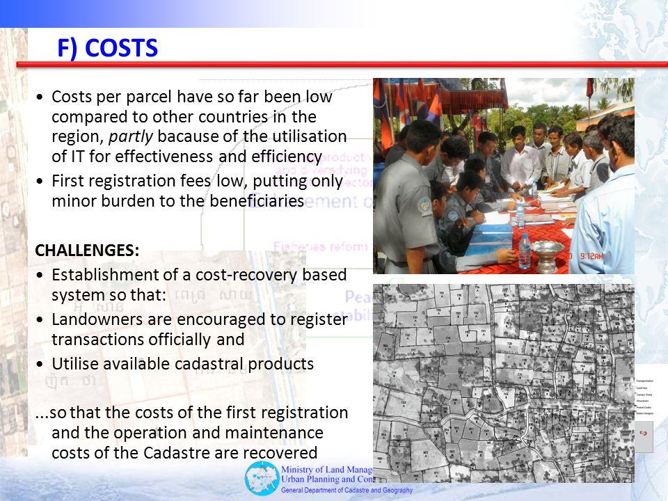 F) COSTS