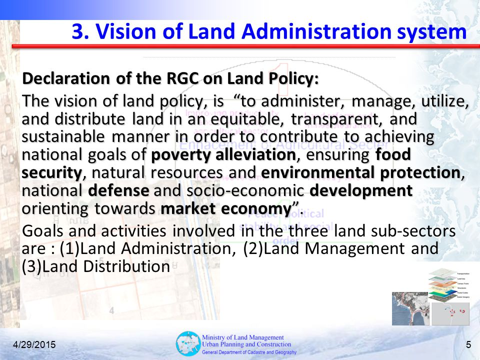 3. Vision of Land Administration system