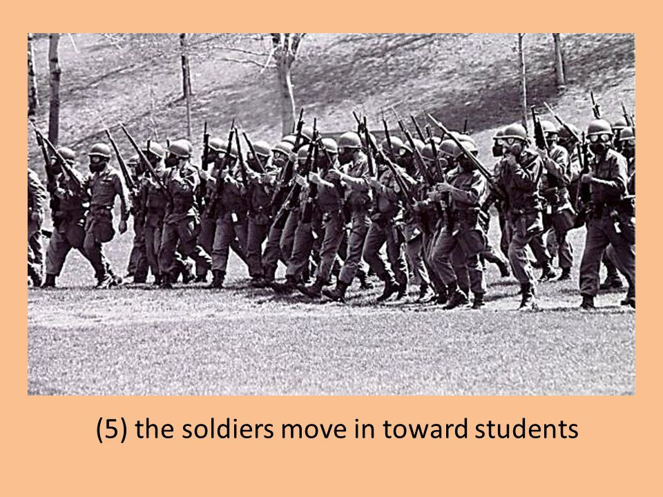 (5) the soldiers move in toward students