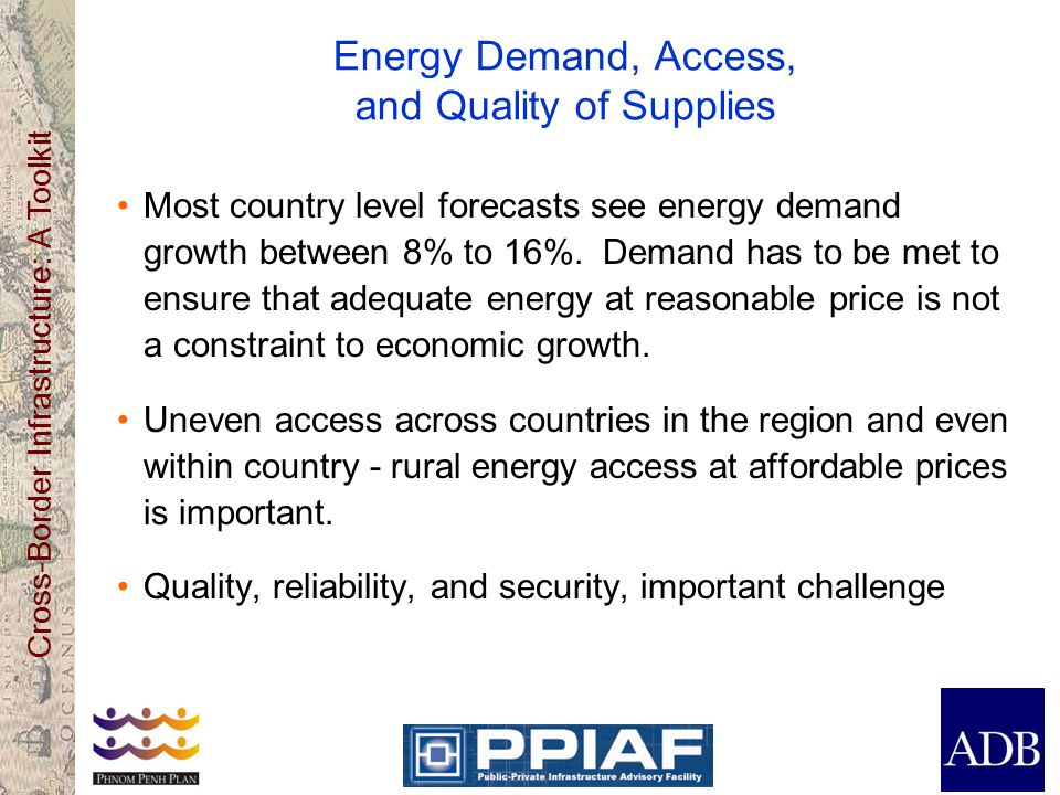 Energy Demand, Access, and Quality of Supplies