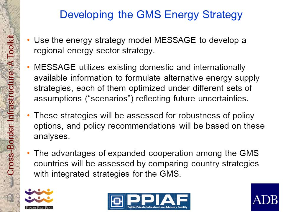 Developing the GMS Energy Strategy