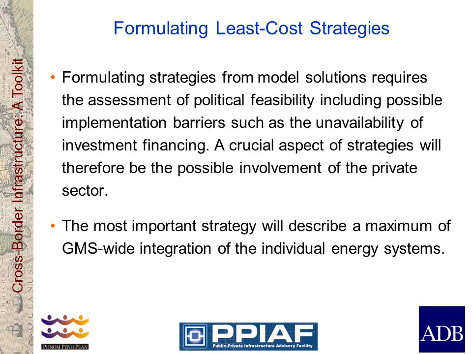 Formulating Least-Cost Strategies