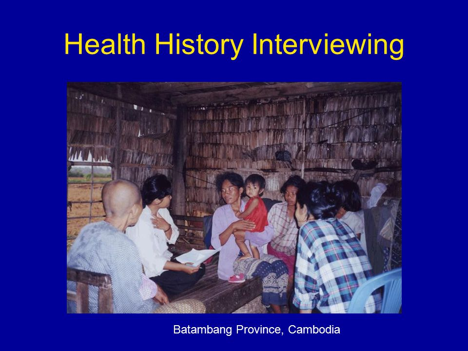 Health History Interviewing