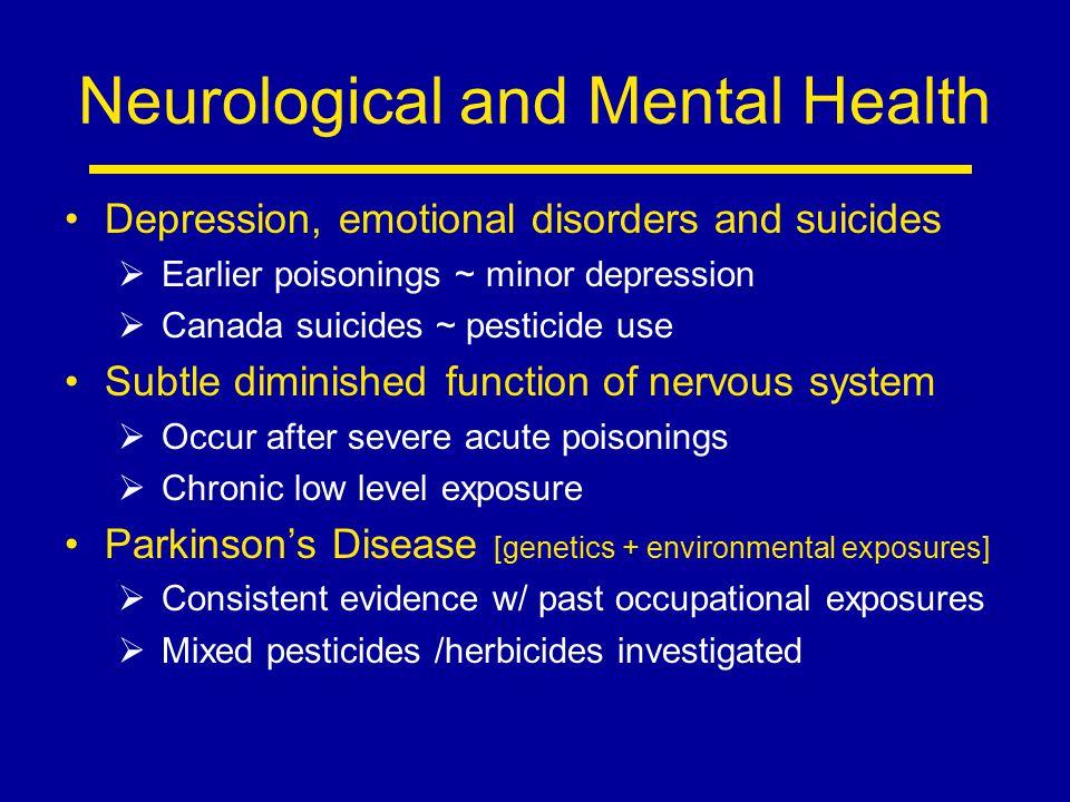 Neurological and Mental Health