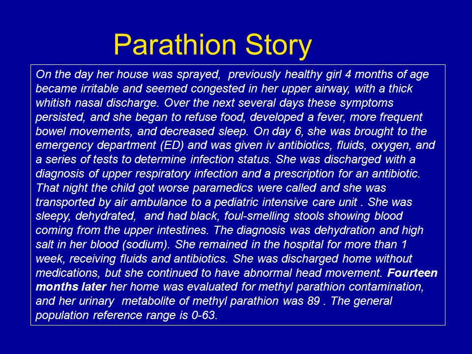 Parathion Story
