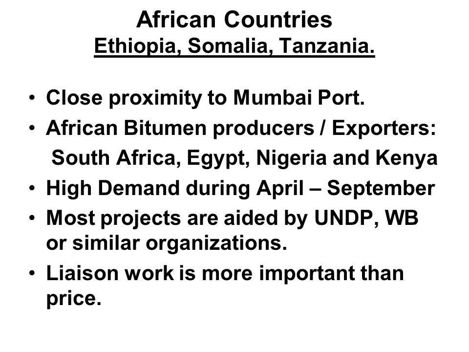 African Countries Ethiopia, Somalia, Tanzania.