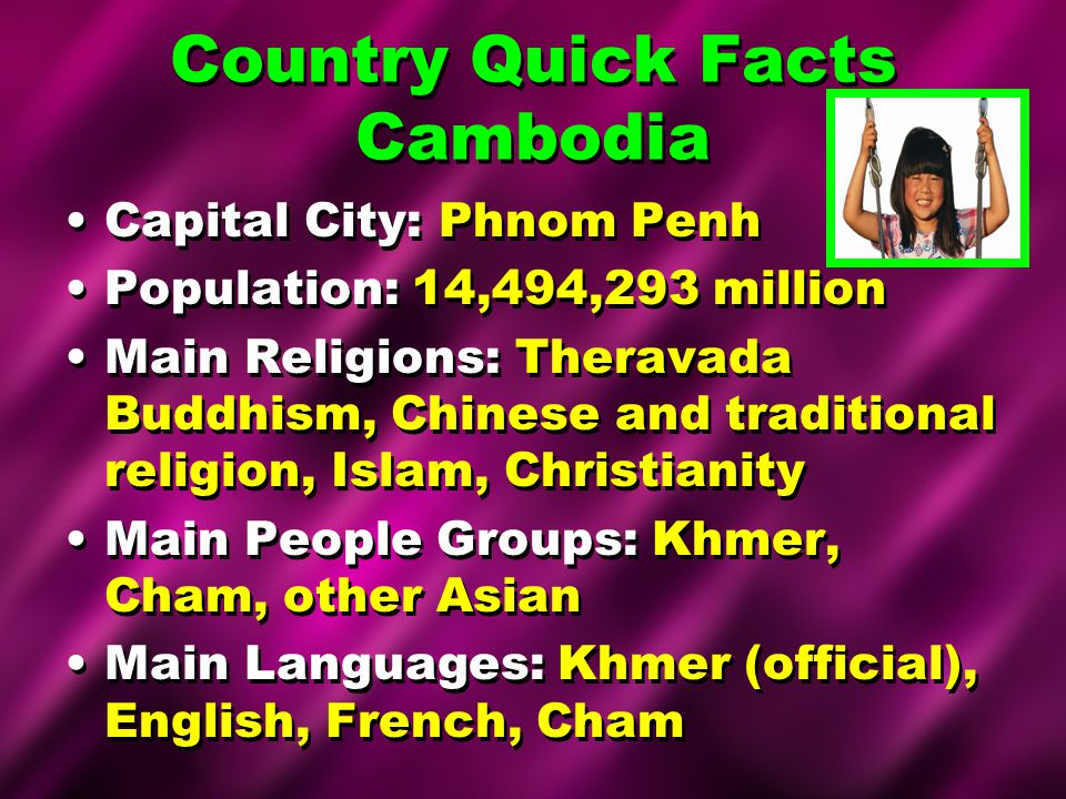 Country Quick Facts Cambodia