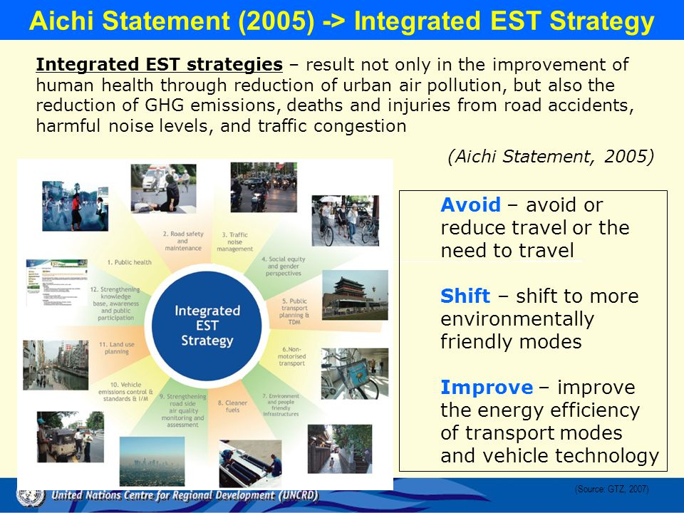 Aichi Statement (2005) -> Integrated EST Strategy