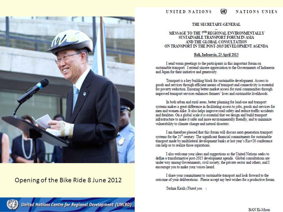 Opening of the Bike Ride 8 June 2012