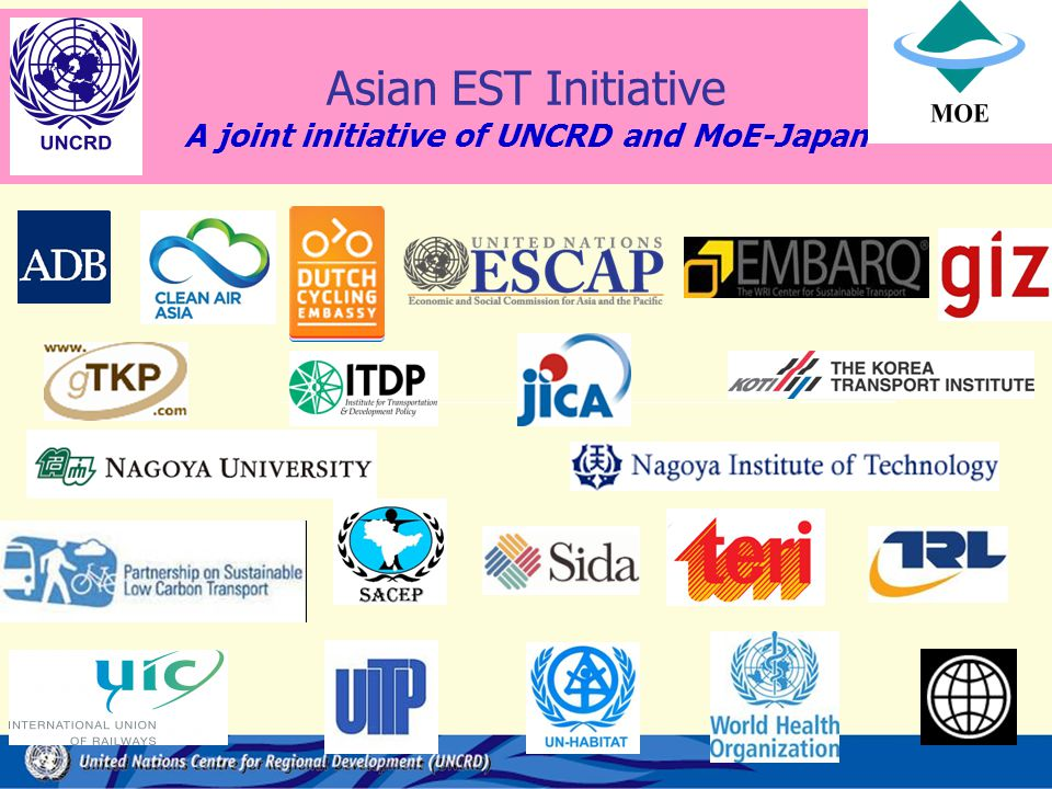 Asian EST Initiative A joint initiative of UNCRD and MoE-Japan