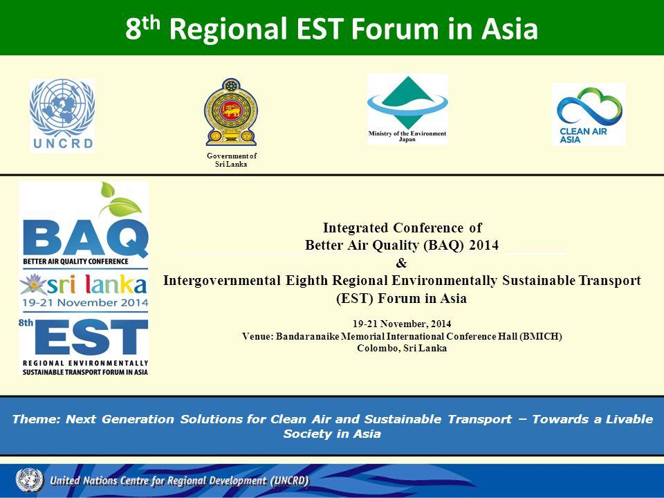 8th Regional EST Forum in Asia Government of Sri Lanka