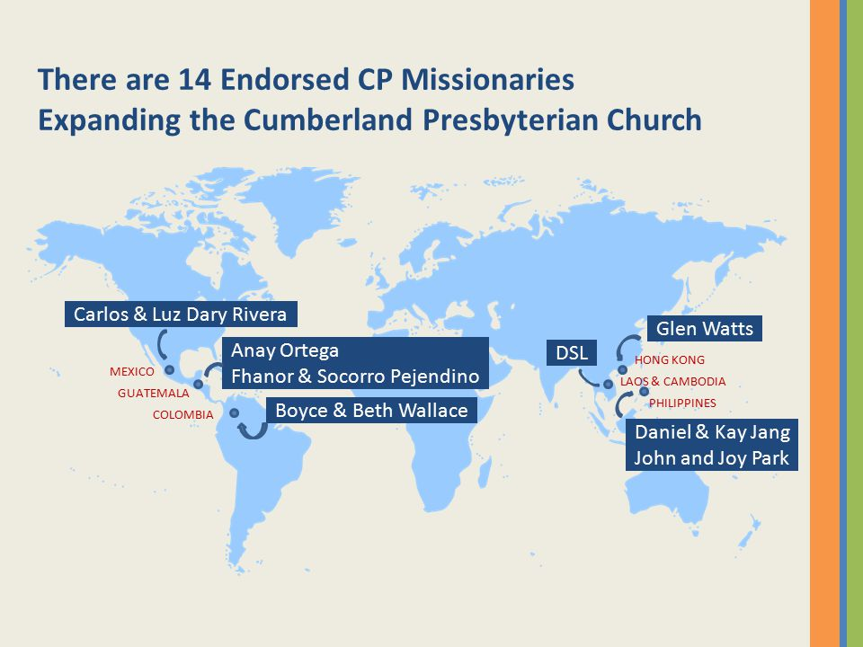 There are 14 Endorsed CP Missionaries Expanding the Cumberland Presbyterian Church