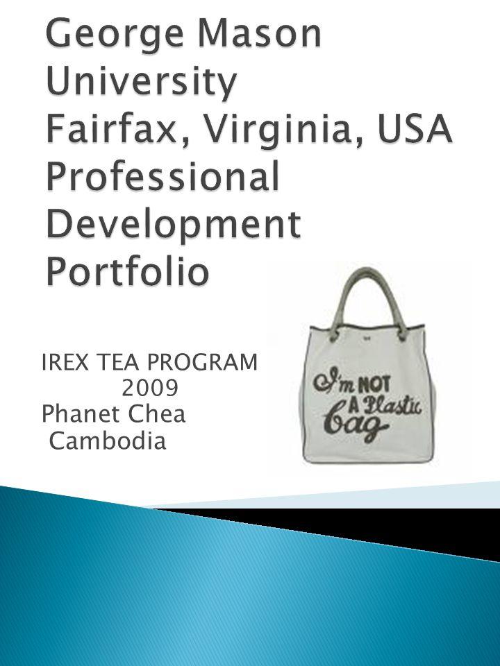 IREX TEA PROGRAM 2009 Phanet Chea Cambodia