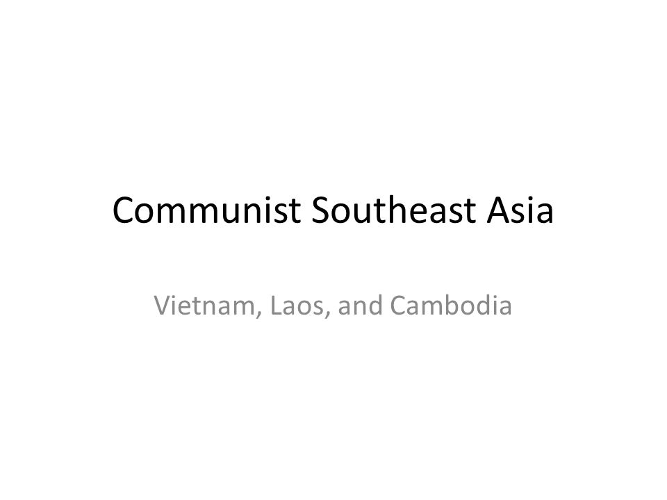Communist Southeast Asia