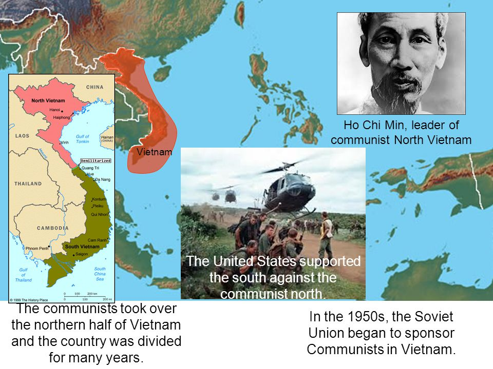The United States supported the south against the communist north.