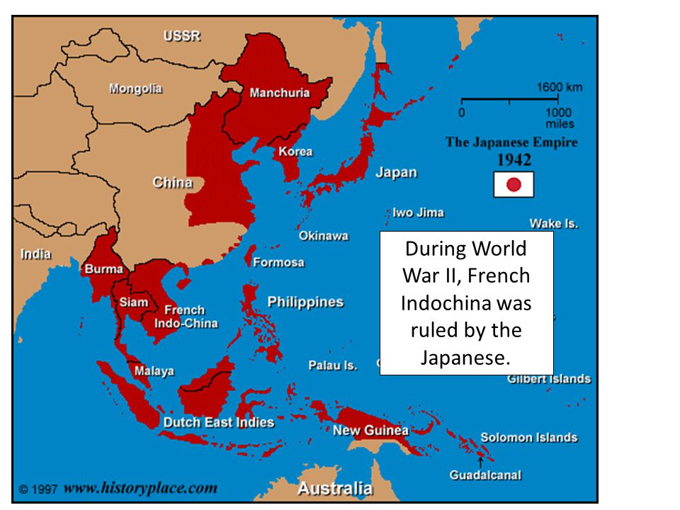 During World War II, French Indochina was ruled by the Japanese.