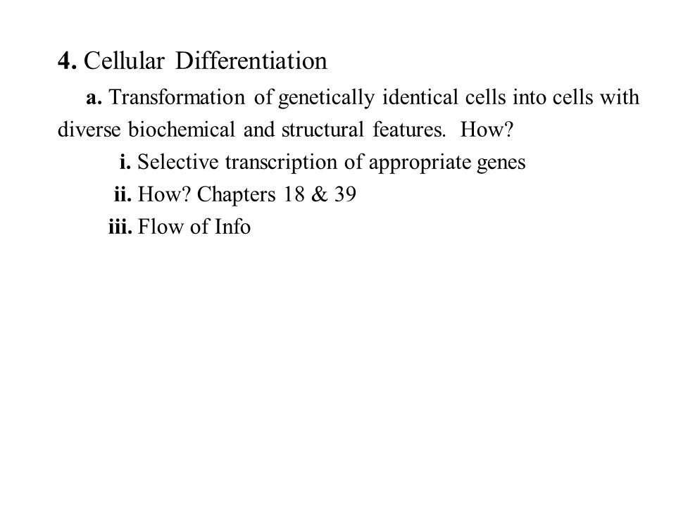 4. Cellular Differentiation