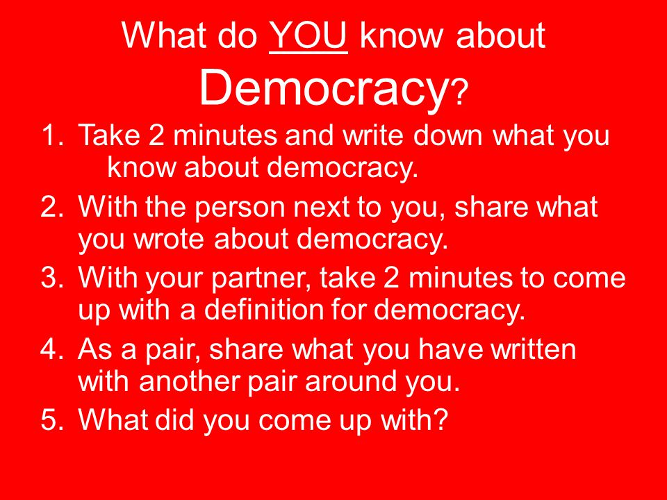 What do YOU know about Democracy
