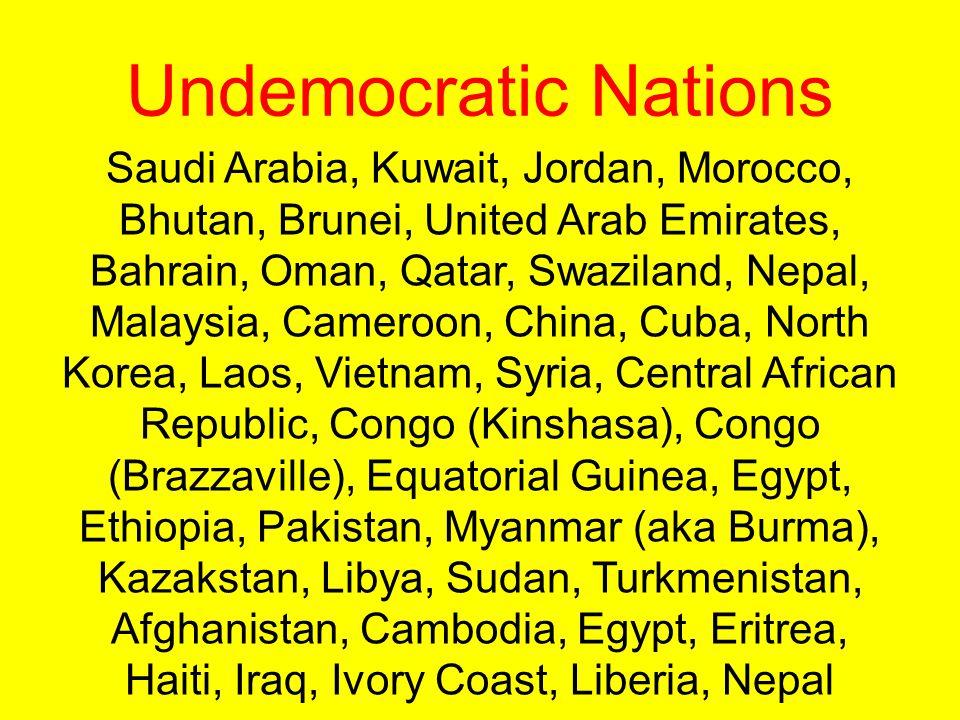 Undemocratic Nations