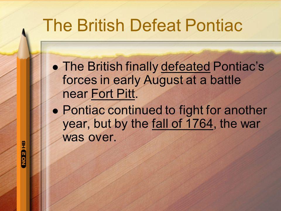 The British Defeat Pontiac