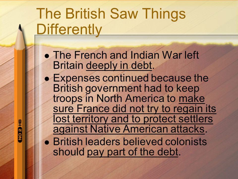 The British Saw Things Differently