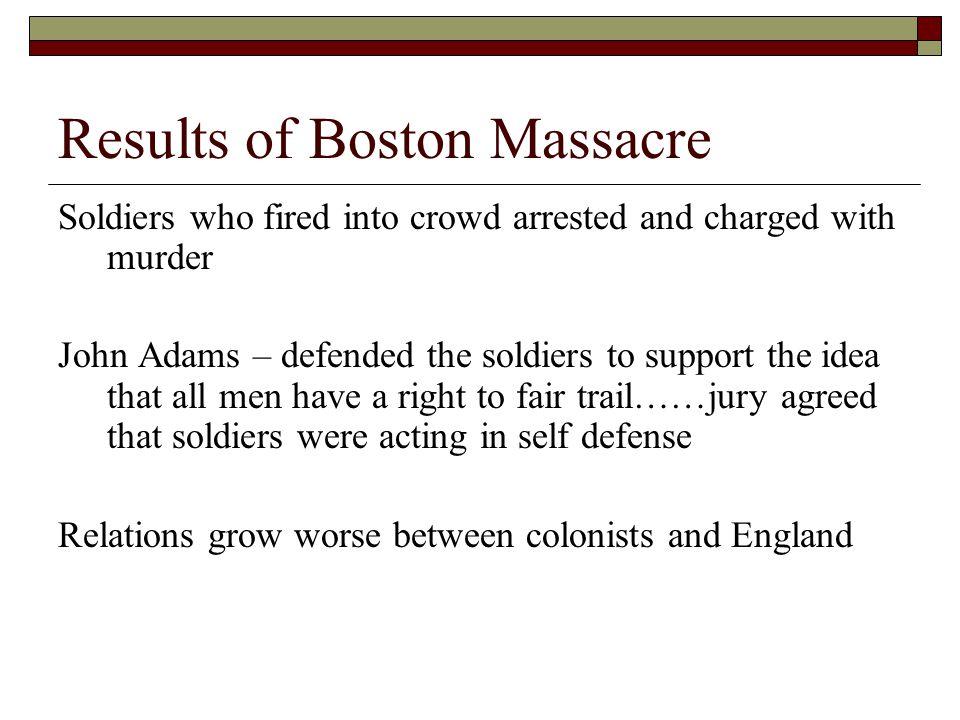 Results of Boston Massacre