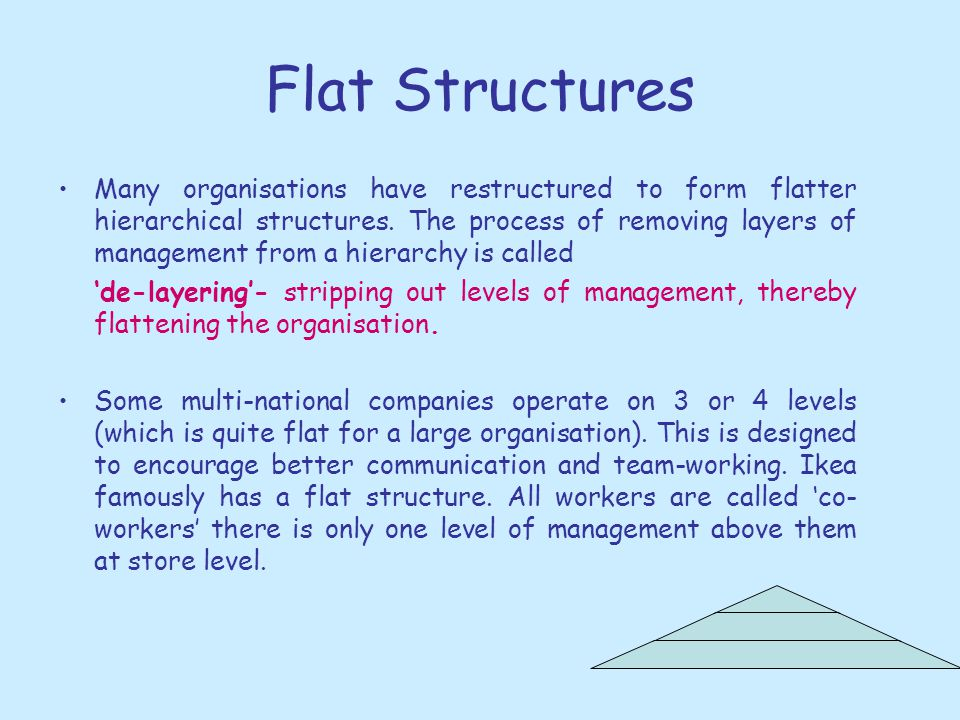 Flat Structures
