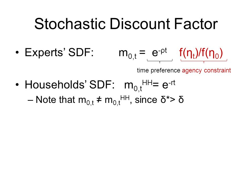 Stochastic Discount Factor