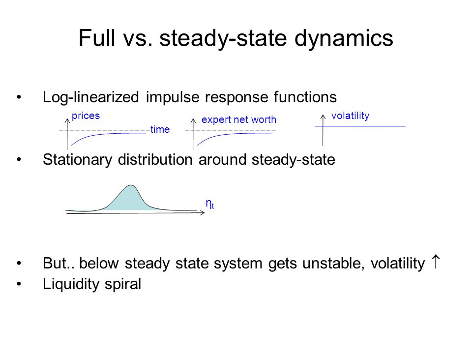 Full vs. steady-state dynamics
