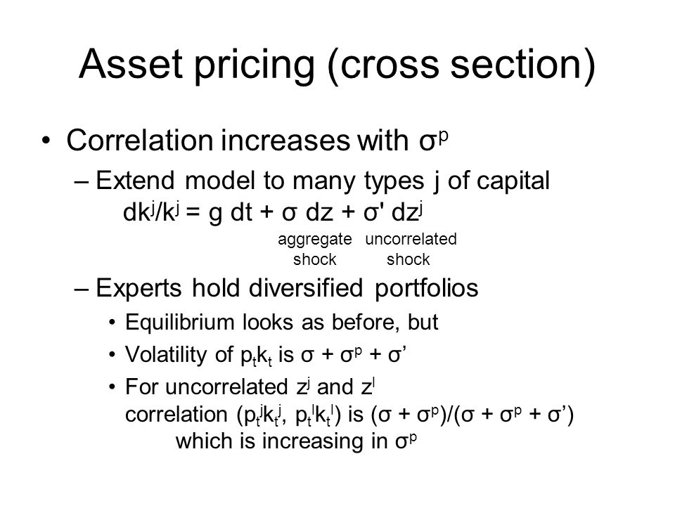 Asset pricing (cross section)