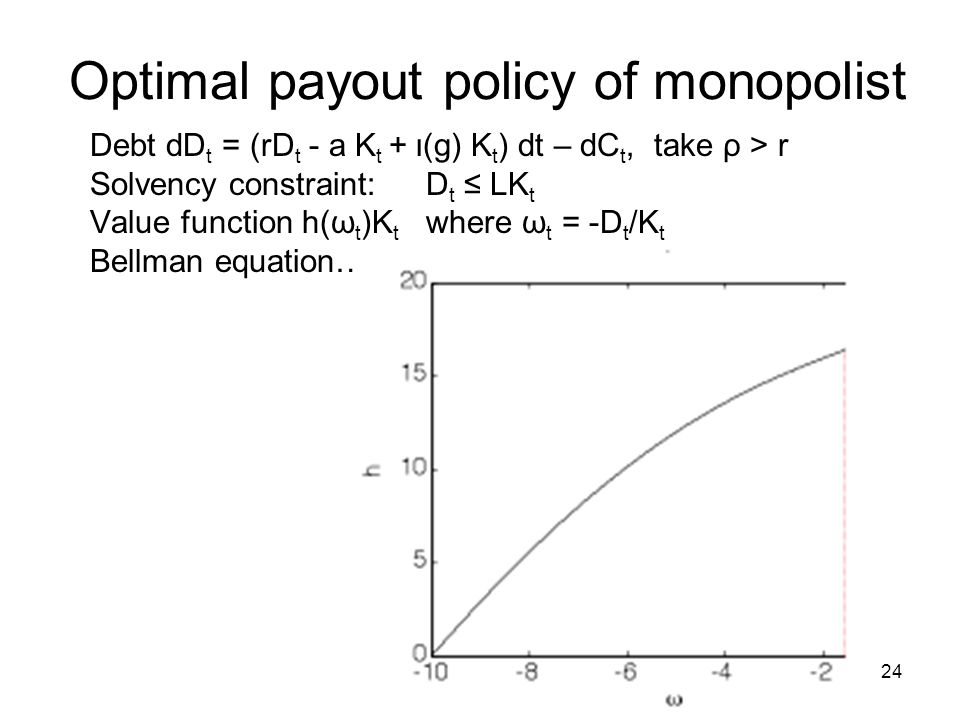 Optimal payout policy of monopolist