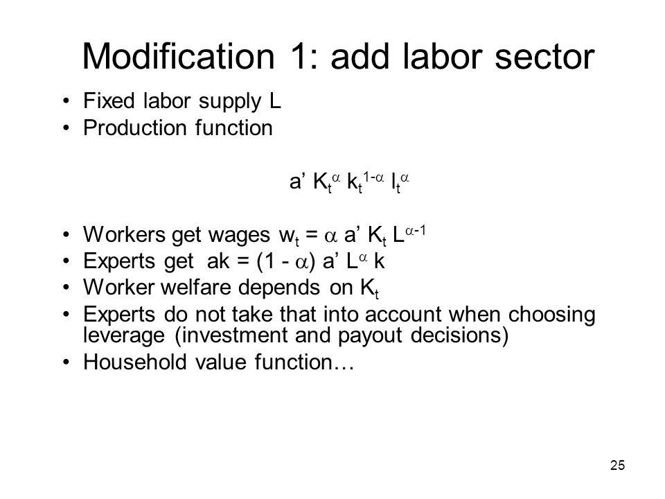 Modification 1: add labor sector